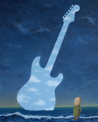 Walthers Luftguitar - A painting of an Air Guitar